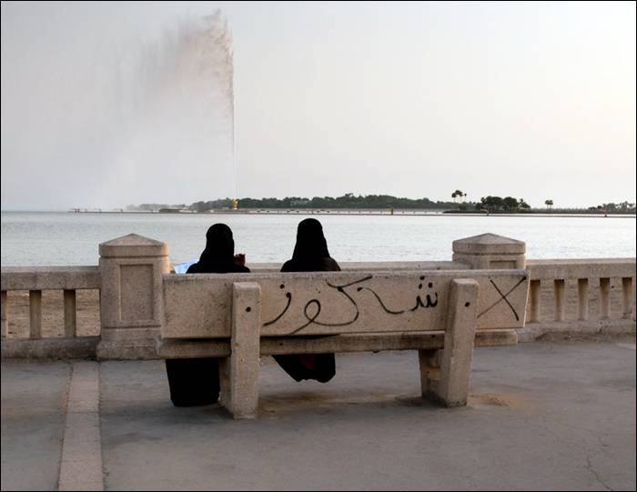 King Fahd's Fountain, also known as the Jeddah Fountain, is the tallest of its type of fountain in the world. Located in the coast of Jeddah, west coast of Kingdom of Saudi Arabia. The fountain jets water 1,024 feet (312 m) above the Red Sea. It was donated to the city of Jeddah by King Fahd, hence its name. The fountain is visible throughout the entire vicinity of Jeddah. The water it ejects can reach a speed of 375 kilometres (233 mi) per hour and its airborne mass can exceed 18 tons. It was constructed between 1980 and 1983 and began operating in 1985. The fountain uses saltwater taken from the Red Sea instead of freshwater. It uses over 500 spotlights to illuminate the fountain at night.