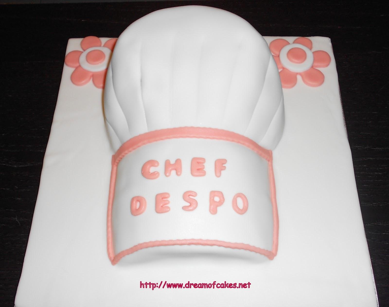 Dream Of Cakes Chefs Hat Birthday Cake