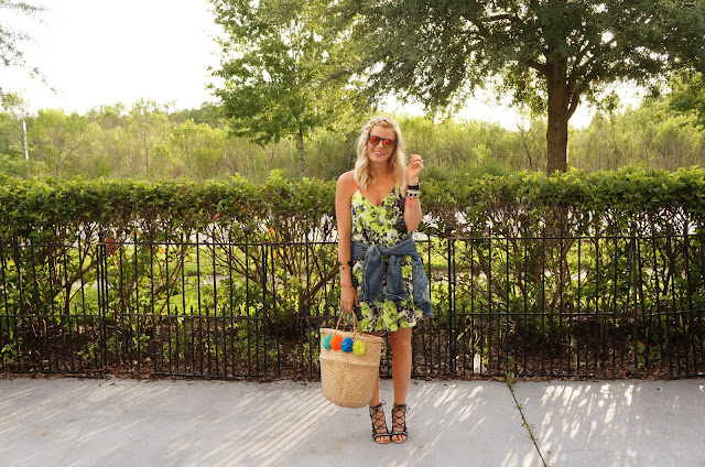 neon floral vacation style