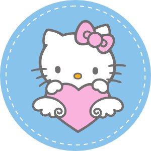 Cake Hello Kitty Blue : Hello Kitty Invitation Party and Cake Topper Tops ...
