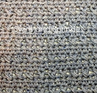 Swirls and Sprinkles: Free crochet X stitch pattern