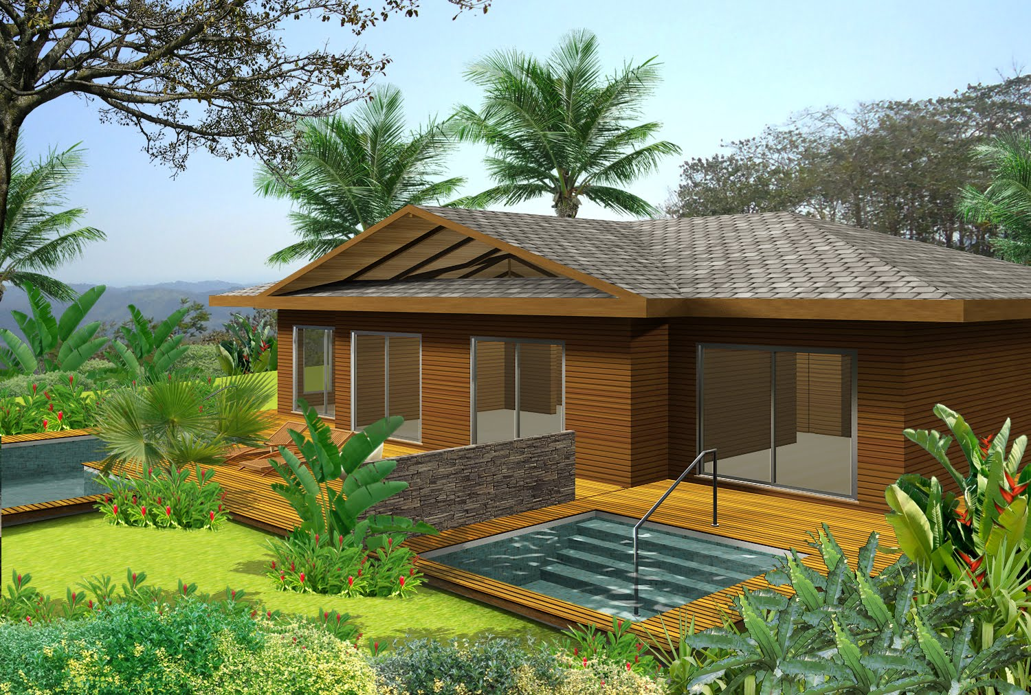 House Design Modern Two Costa Rica Invest New Bungalow Designs For Carara National Eco