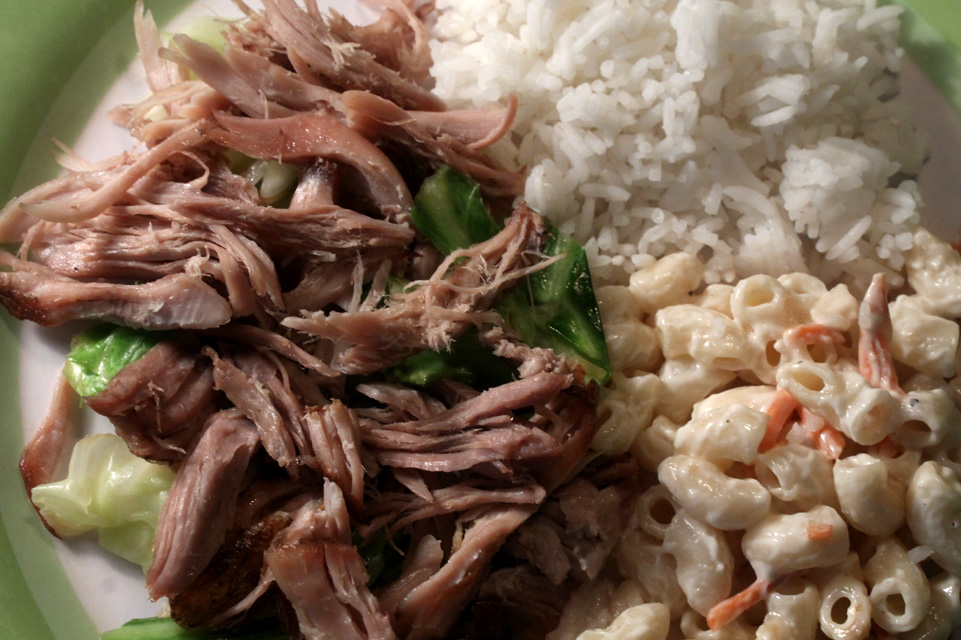 Hawaiian bbq chicken plate recipe