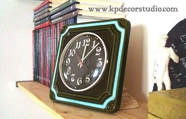 KP. Vintage. Comprar reloj vintage-antiguo-años 60. Estilo retro, pop, Alemán, de números grandes