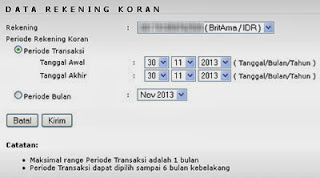 Fitur Baru Cetak Rekening Koran Internet Banking BRI