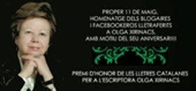 11 DE  MAIG, HOMENATGE A OLGA XIRINACS