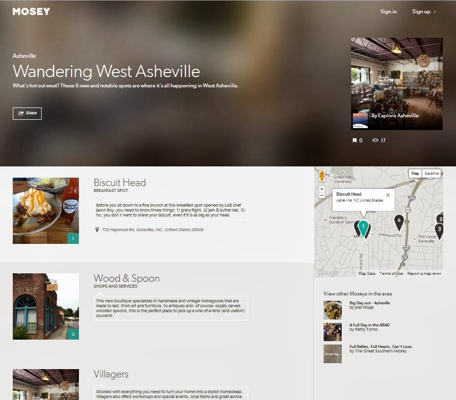 Mosey.com | Wandering West Asheville