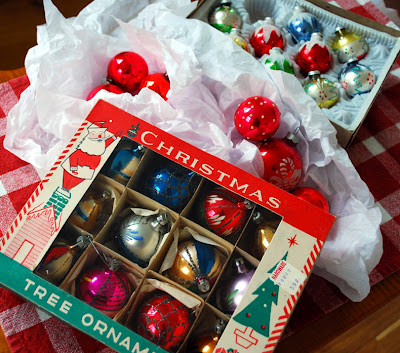 vintage Christmas bulbs