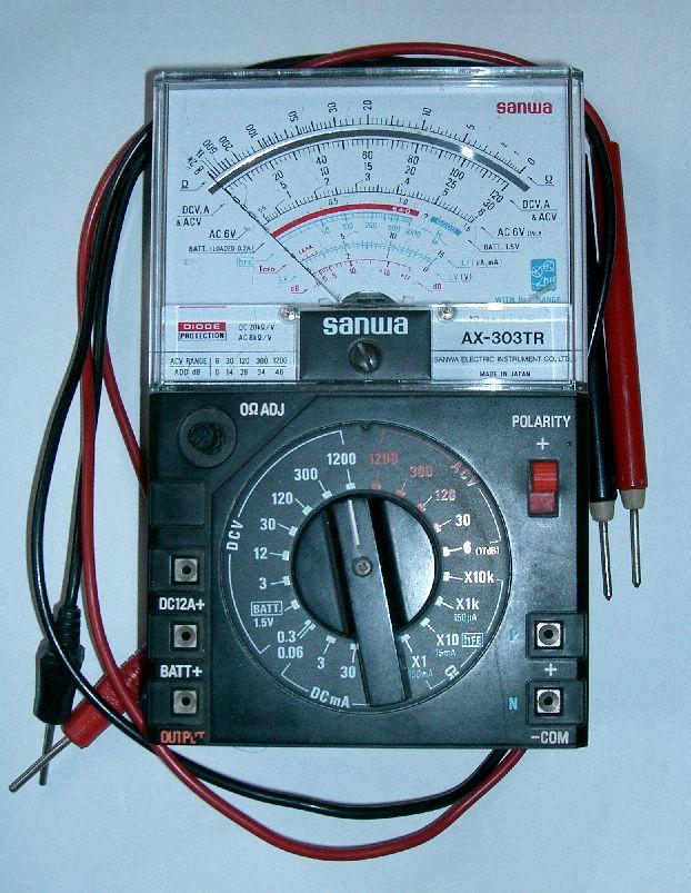 Different Types Of Multimeters : Gsmattock analog multimeter using tips