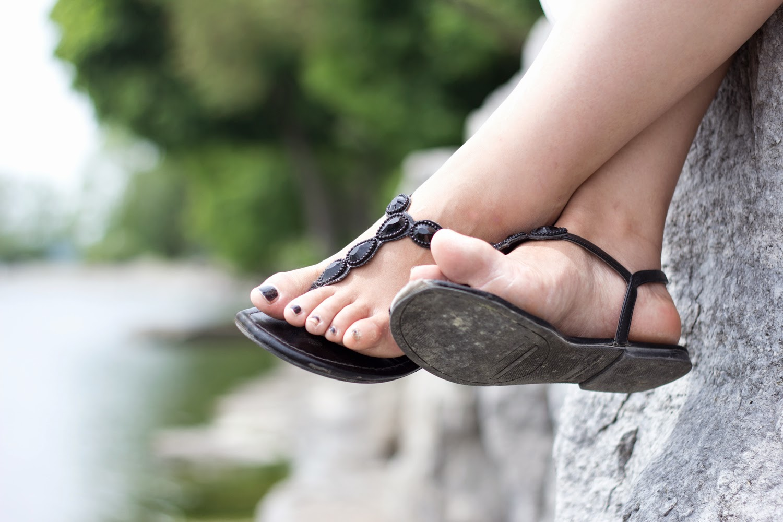 Payless-Black-Sandals