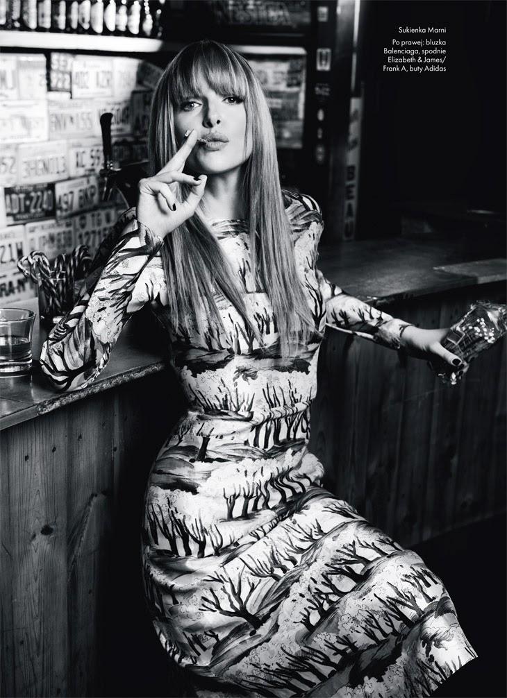 Magazine photoshoot : Magdalena Mielcarz Photoshot by Mateusz Stankiewicz for Elle Magazine Poland January 2014