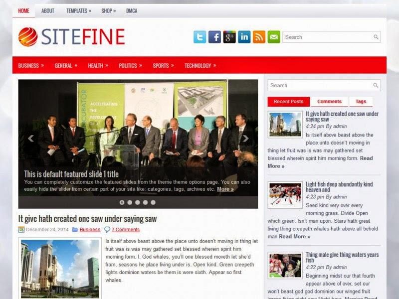 SiteFine - Free Wordpress Theme