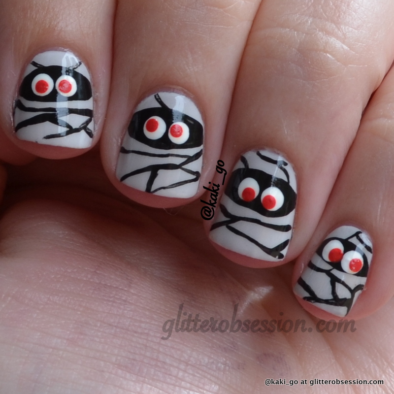 Halloween Nail Art: Mummies