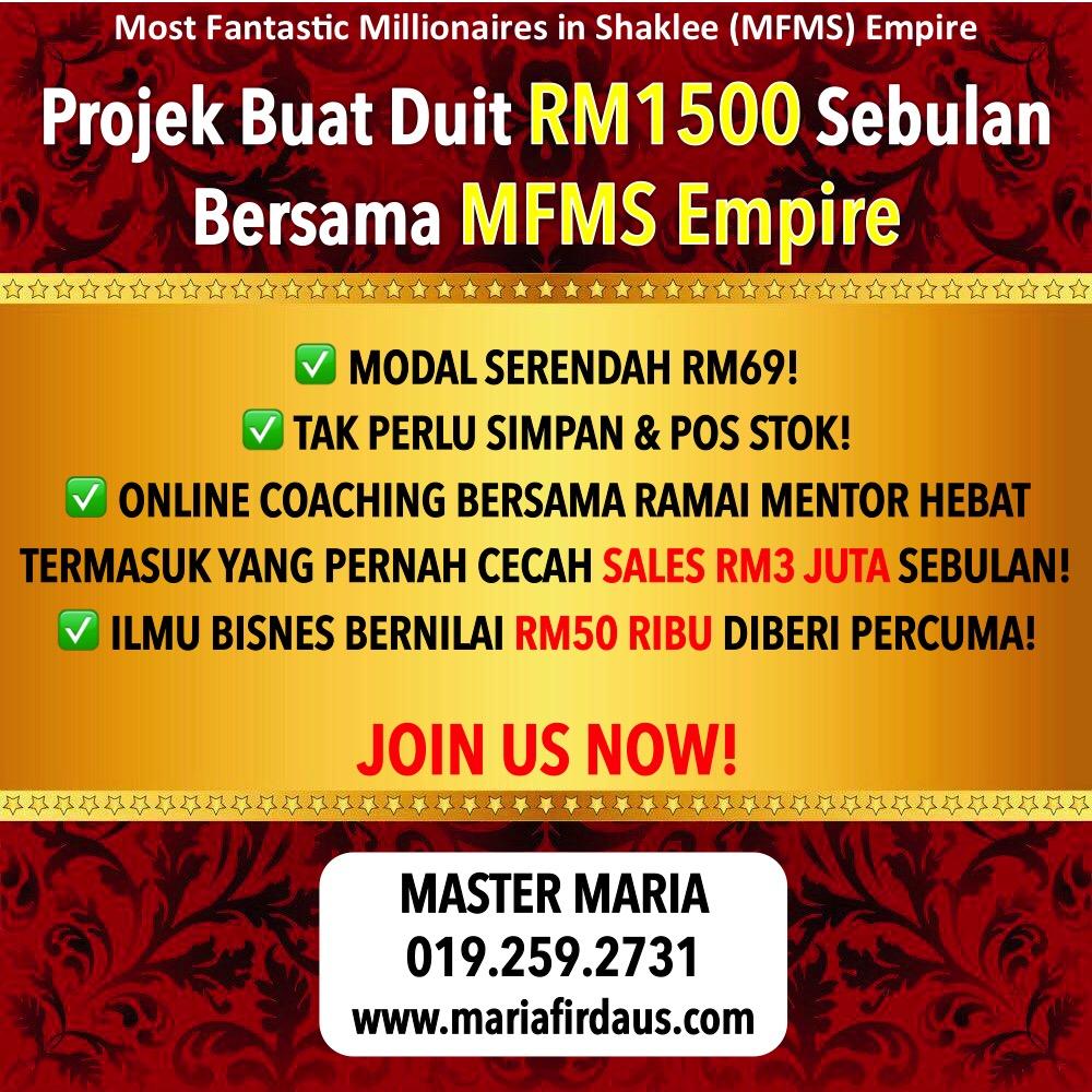 Projek Buat Duit RM1500 MFMS