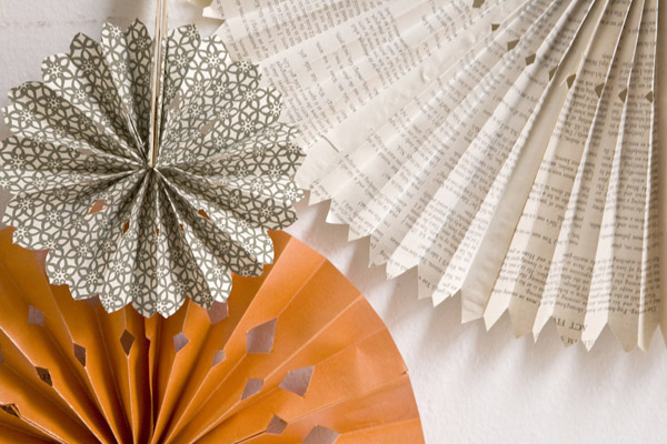 popsicle stick paper fan party craft