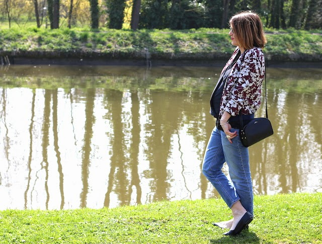 balsamik, teddy à fleurs, perfecto en cuir, acné pop, juste juliette, blog mode lille, fashion blogger, babybump, style the bump, apc, half moon bag