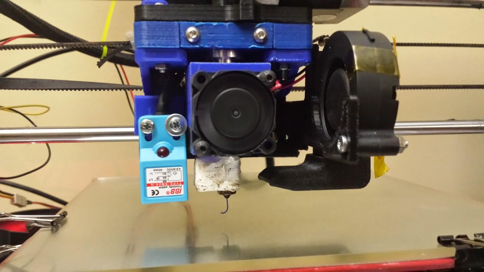 Induction probe setup on the Aluminum 3DPrintMi