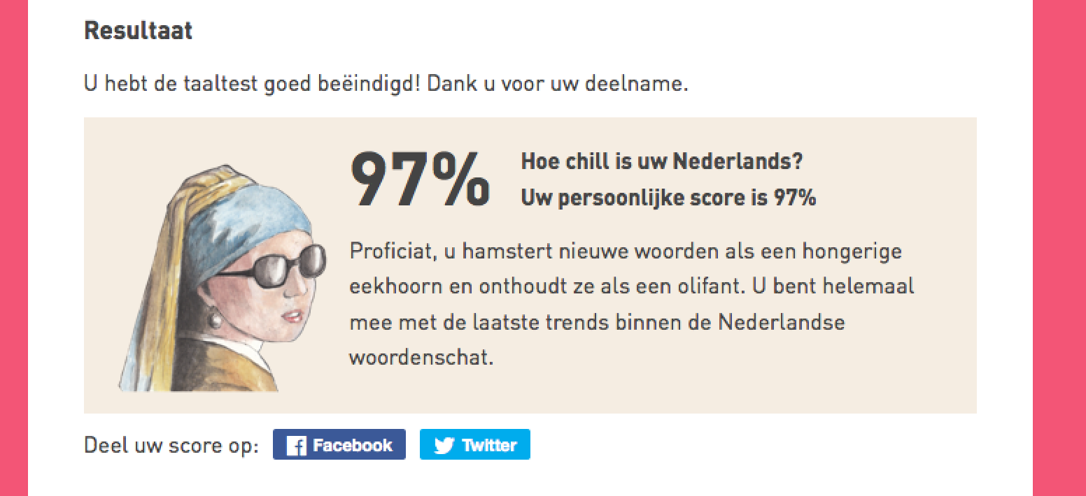 Hoe chill is uw Nederlands?