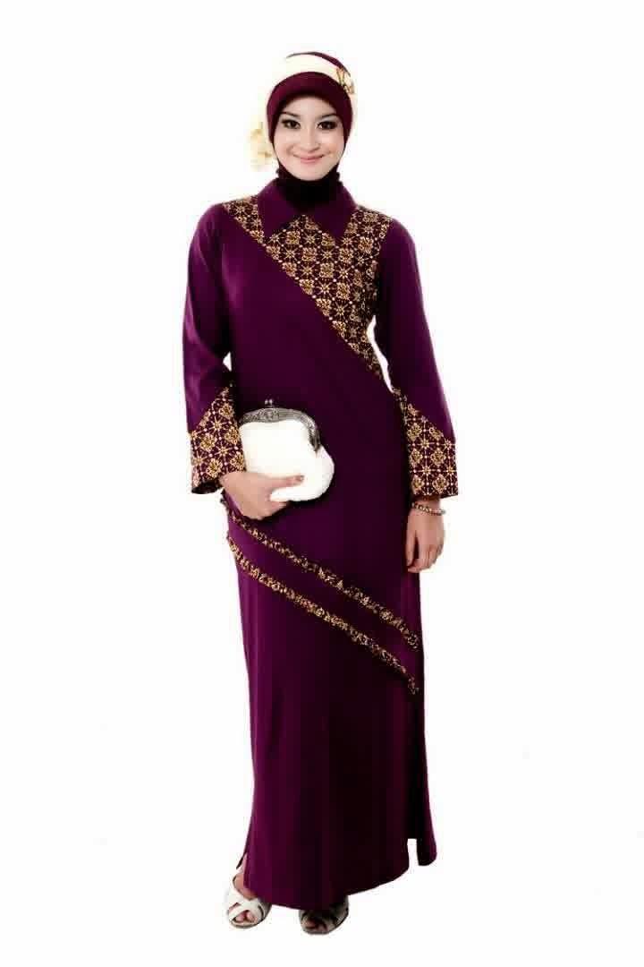 Baju Gamis Batik Modern Simple Terbaru