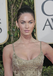 Megan Fox Updo Hairstyle at the 66th Annual Golden Globes Awards