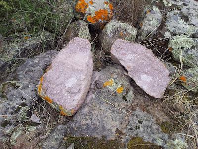 Pietra spaccata in due a Monte Pedru a Monte Pedru, Perfugas, Sassari, Sardegna