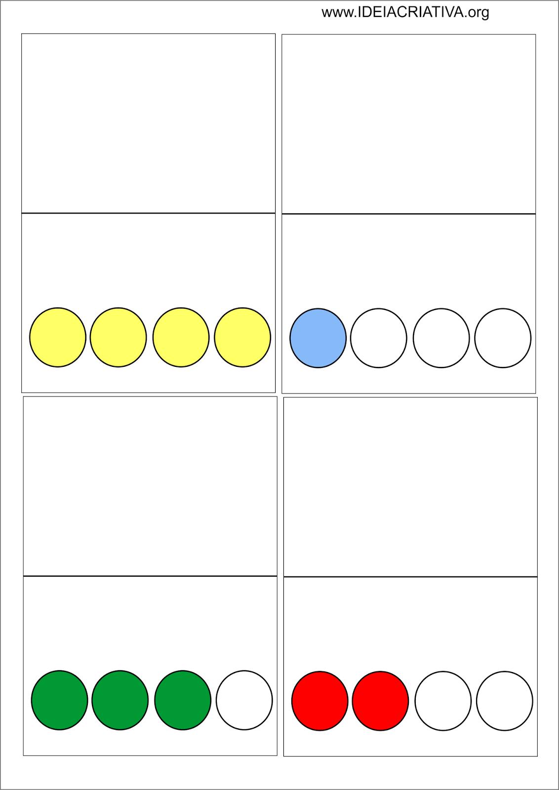 Cartões com suporte visual e silábico