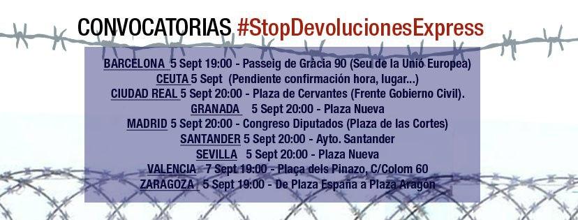 CONVOCATORIAS #StopDevolucionesExpress#