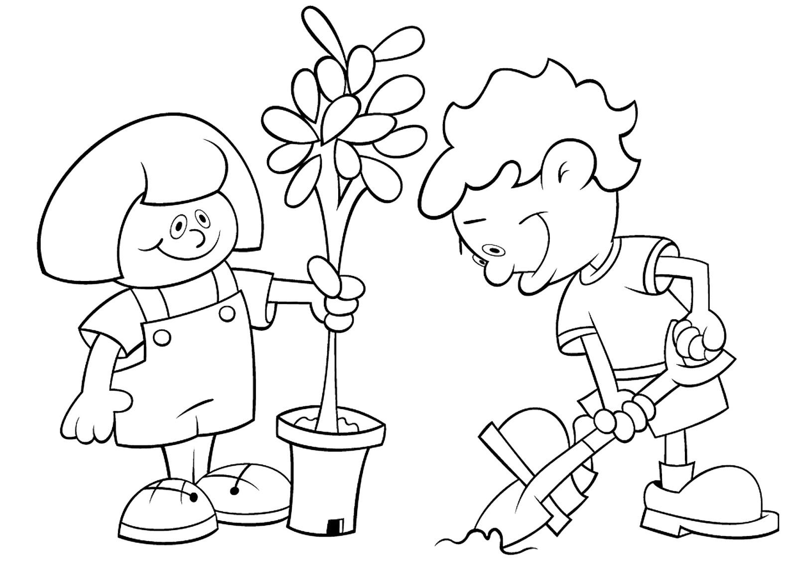 Atividades imagens e desenhos sobre meio ambiente  - imagens para colorir sobre meio ambiente