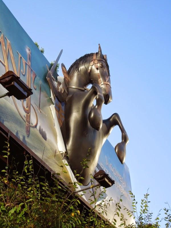 Galavant 3D horse billboard installation
