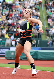 Brittany Borman competes in the Women's Javelin Throw Final on day ten of the U.S. Olympic Track & Field Team Trials at the Hayward Field on July 1, 2012 in Eugene, Oregon. (June 30, 2012 - Source: Christian Petersen/Getty Images North America)