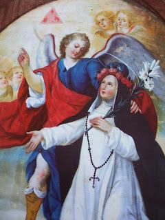 Santa Rosa de Lima y Angel