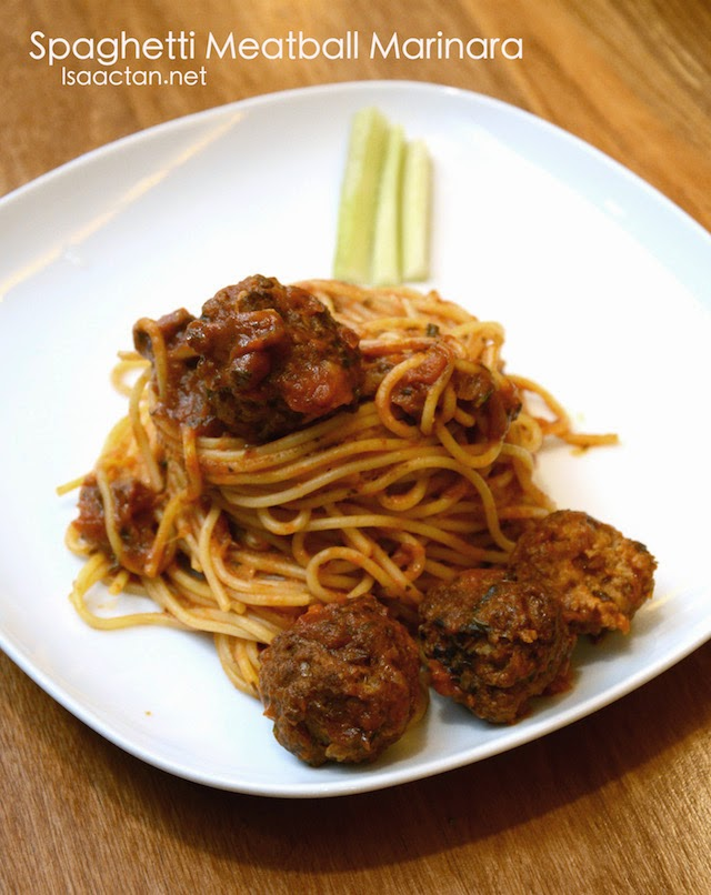 Spaghetti Meatball Marinara - RM14