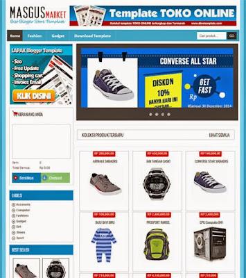 template toko online market MASAGUS