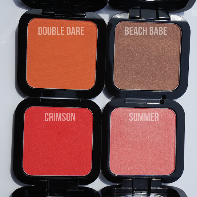 Review: NYX HD Blushes in Double Dare, Beach Babe, Crimson ...