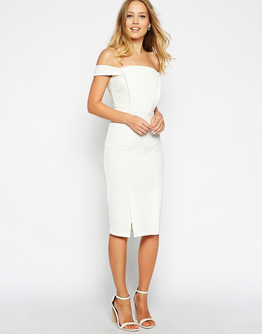 asos white off shoulder dress