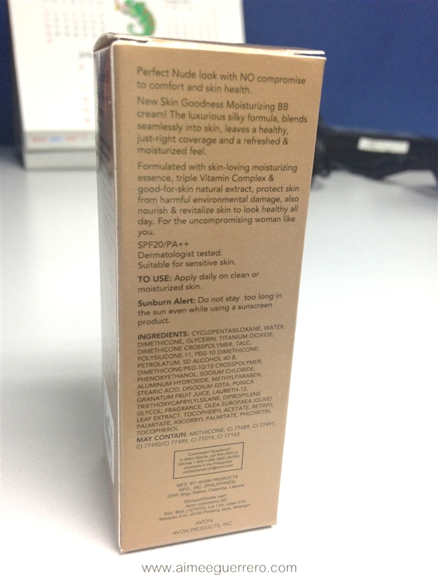 Skin Goodness Moisturizing BB Cream SPF 20/PA++ in Nude   Avon Glamourbox
