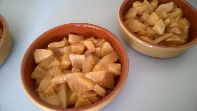 Crumble aux pommes épicées et au Carambar