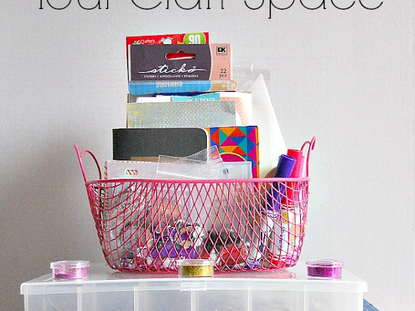 15 Ways To Organize Your Craft Space