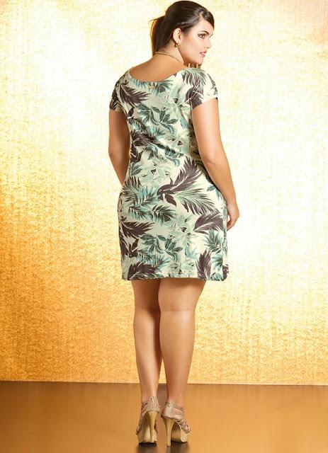Moda linda e bela plus size vestido curto