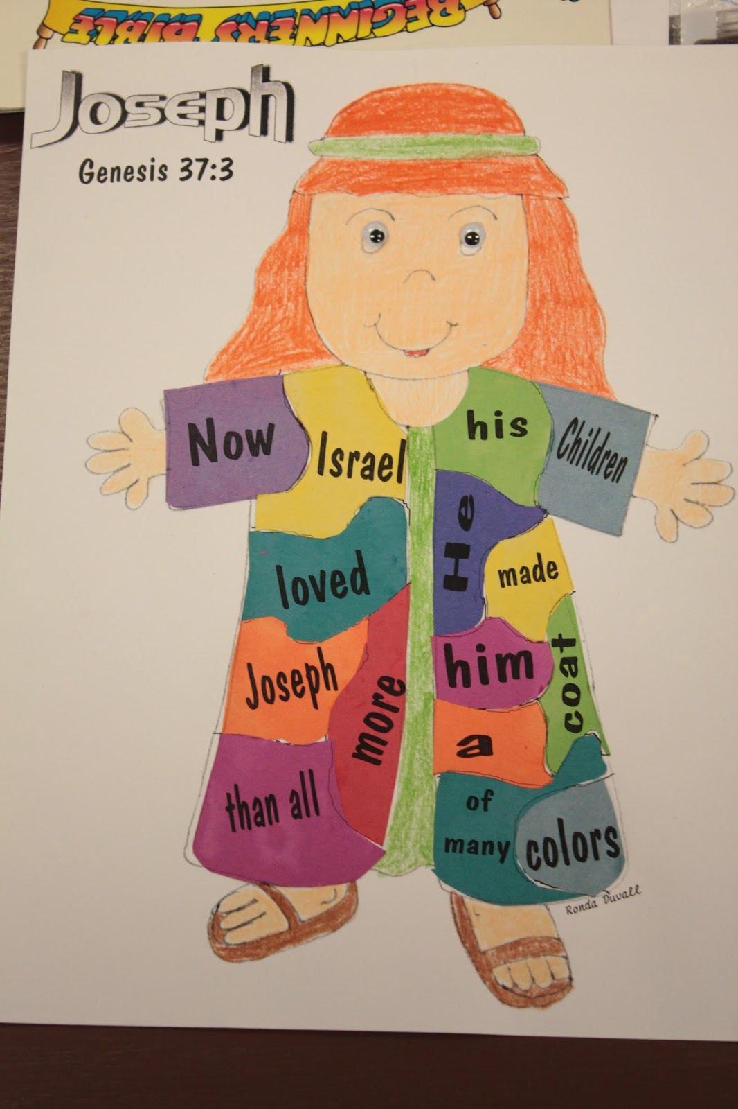 Hands On Bible Teacher Joseph And His Colorful Coat Joseph Coat Of Many Colors Activity