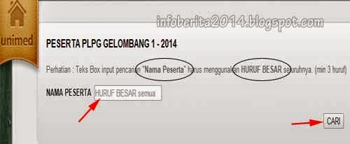 Cek daftar nama peserta PLPG Unimed