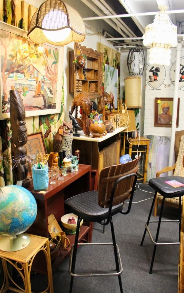 Tiki Room in Vintage Shop #vintage #tiki #shop