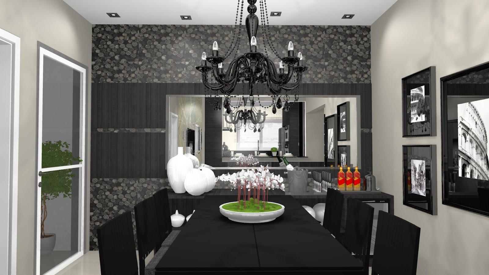 Sala de jantar / cozinha Móveis Todeschini TALITA PALAMIN  #BB1A10 1600 900