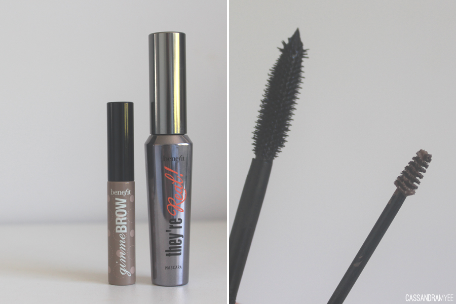 BENEFIT COSMETICS // Gimme Brow in Light/Medium Review - Size comparison with They're Real Mascara - cassandramyee