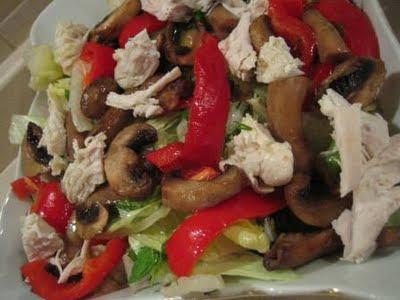 Tavuklu Mantarlı Salata