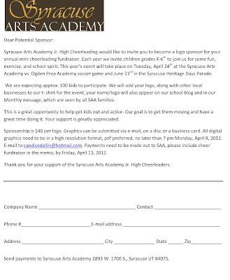 Saa dragon notes cheerleading fundraisers sponsor letter altavistaventures Gallery