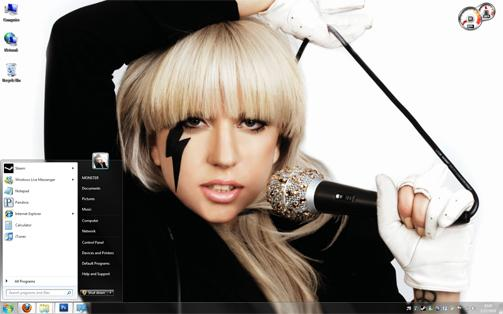 Lady Gaga With Music Themepack V1.0