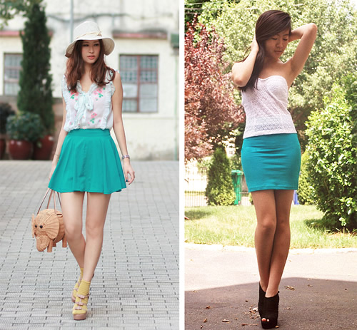 skirts Cute young teens in short