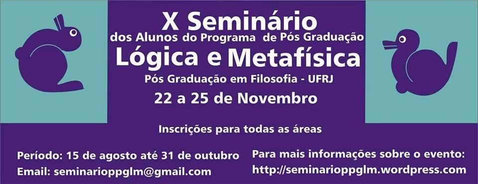 22 a 25 de novembro: Rio de Janeiro - UFRJ