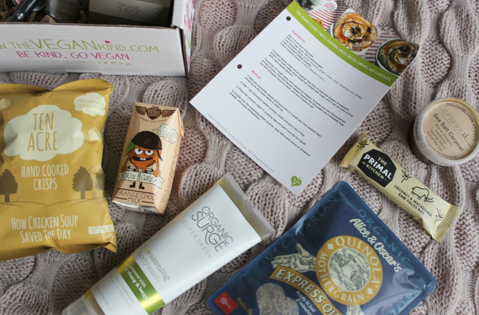 A picture of the The Vegan Kind November Box